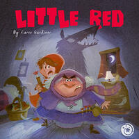 Cover Art: Shadowy drawing of a menacing animal dressed as an elderly woman, with a scared girl in the background and a wolfish shadow on the wall