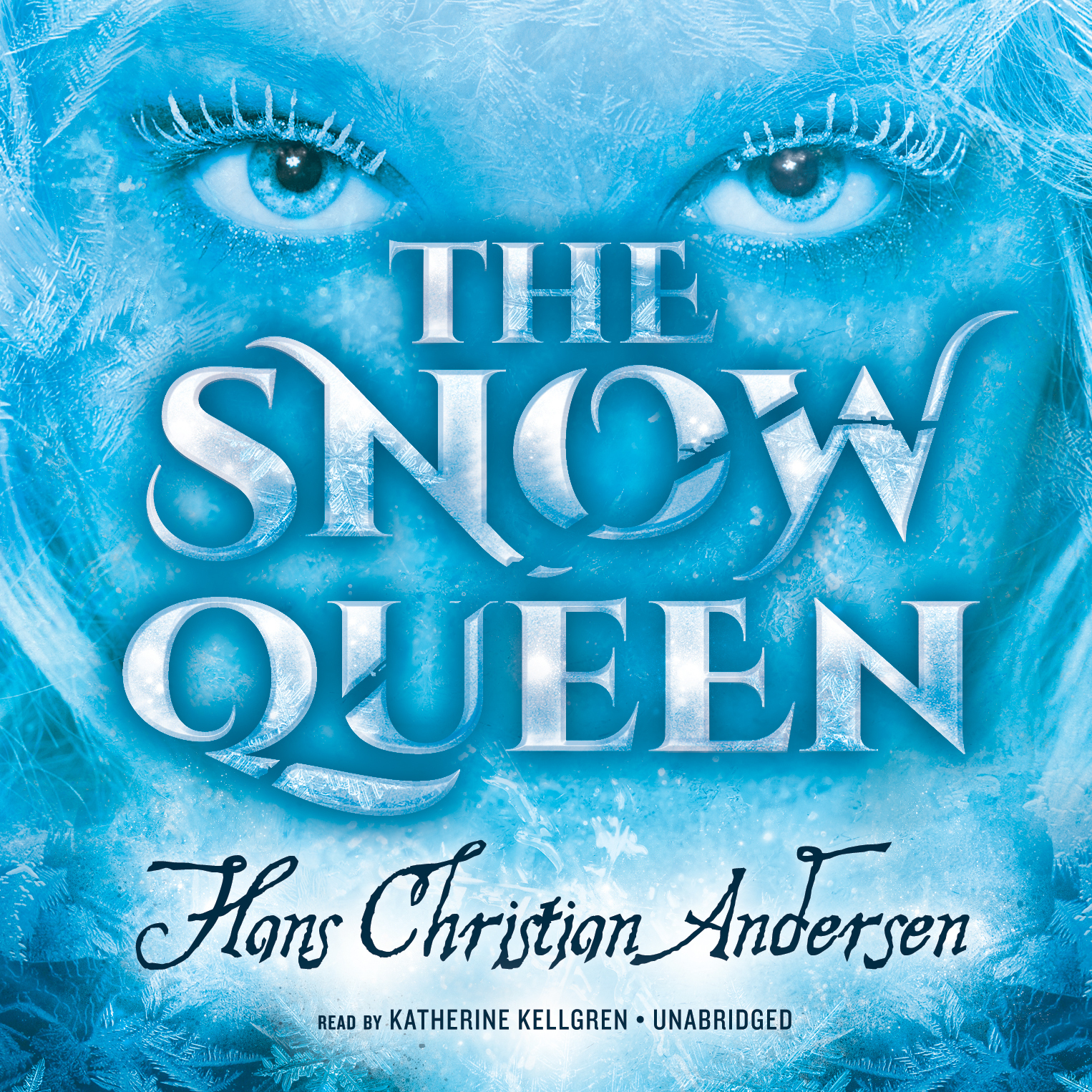 Cover art: Blue eyes with icy eyelashes over the title all awash in blue