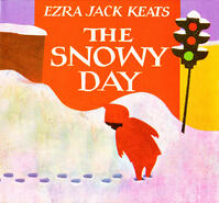 Cover art: A child turning to look at their footprints in snow with a stoplight in the background