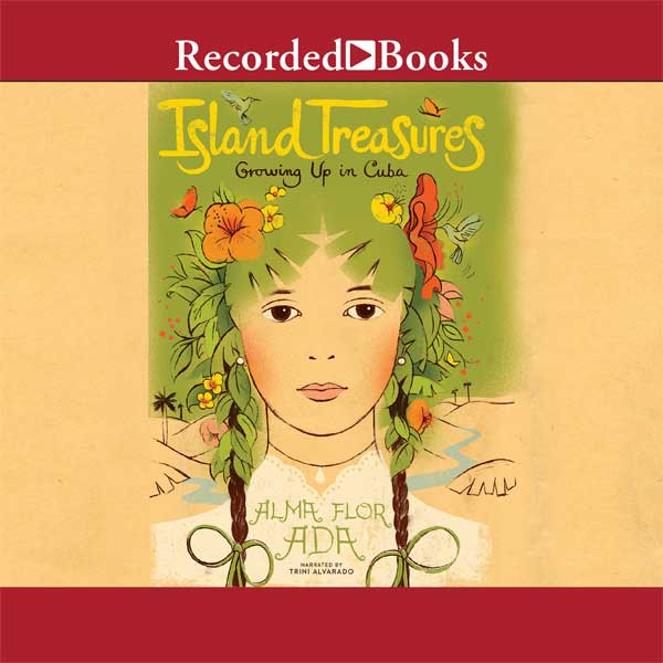 Cover art: A child's face with green foliage and flowers for hair with two brown braids tied with green ribbons