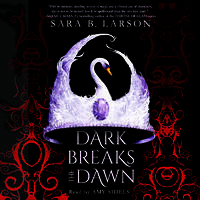 Cover art: A swan shaped crown of feathers set with an oval purple gem in the center