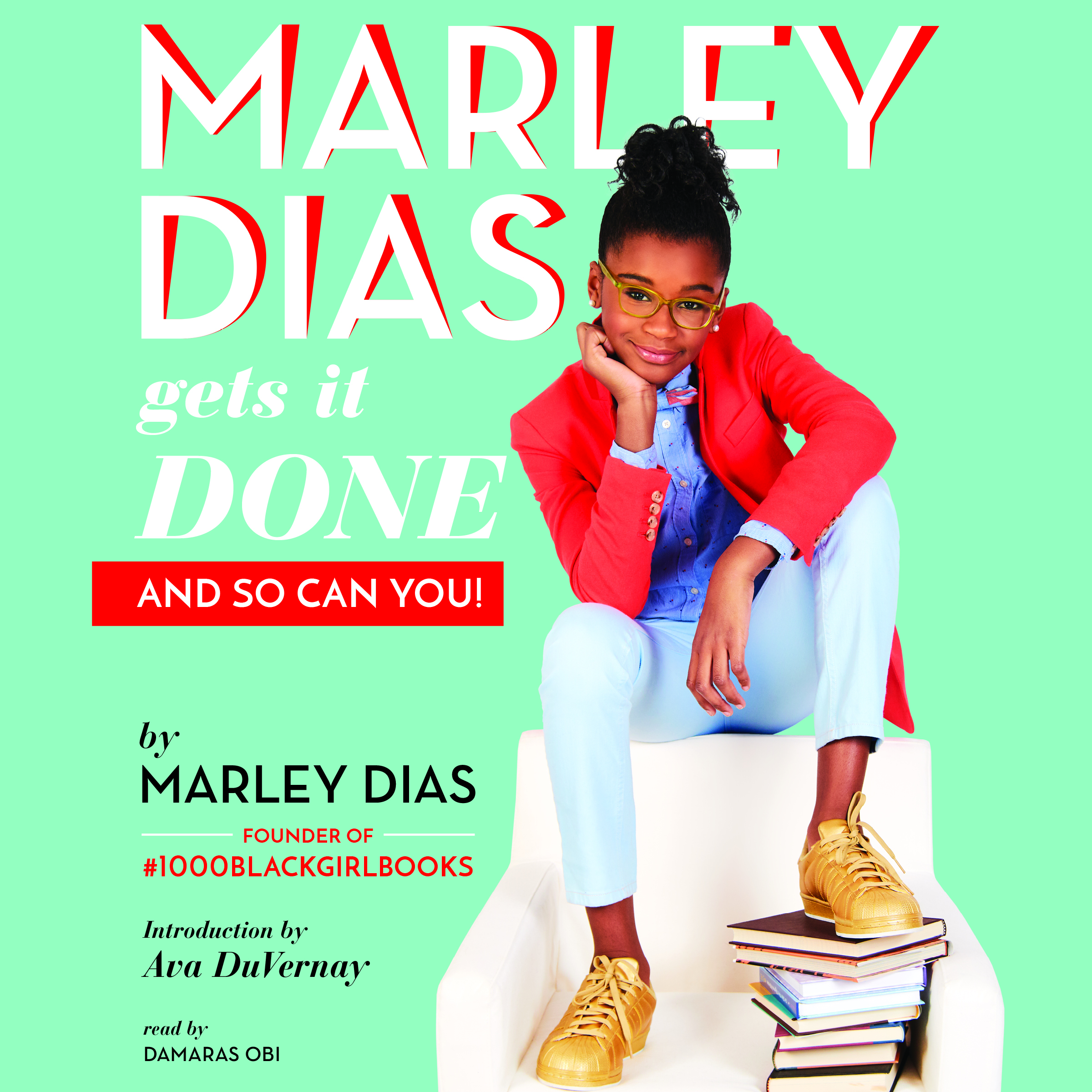 Marley Dias in a red blazer and jeans
