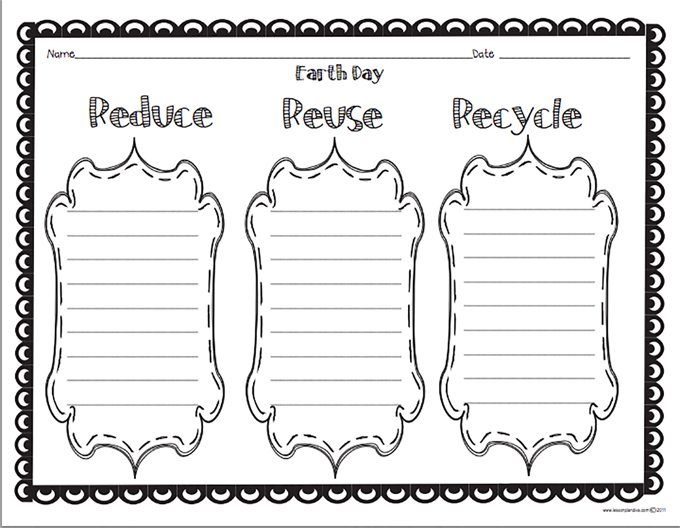 Recycling Worksheets For 3rd Grade : All worksheets reduce reuse recycle