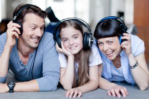 family listening