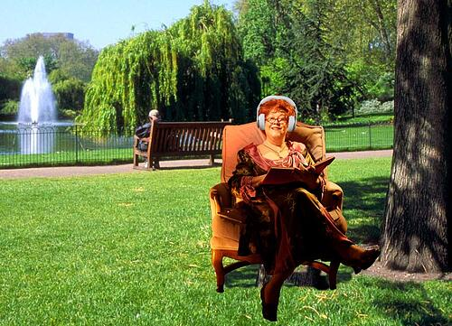 Mrs. P in the Park