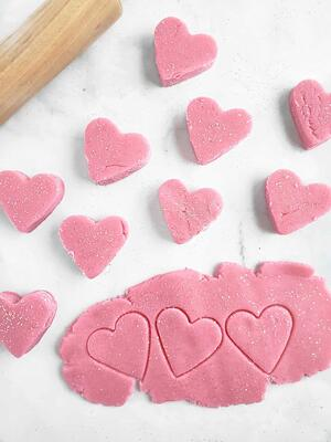 Pink Dough Hearts