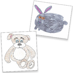 Drawings of stuffed animals