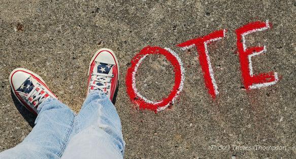 Vote feet